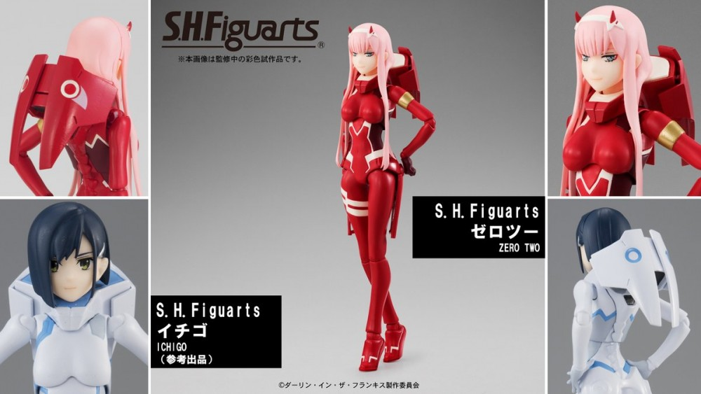 S.H.Figuarts Zero Two and S.H.Figuarts Ichigo DARLING in the FRANXX