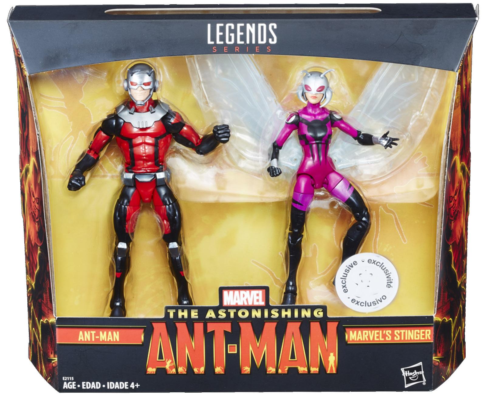 Marvel Legends Exclusive Ant-Man and Stinger Figures