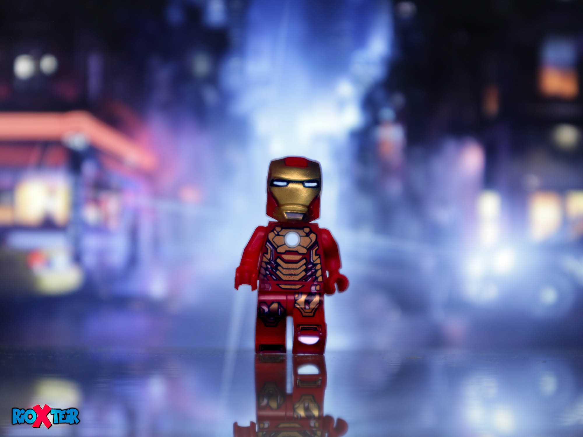 Lego Iron Man Walking On The Street