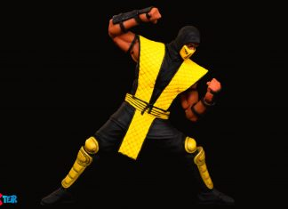 Storm Collectibles Mortal Kombat Series Scorpion fighting pose