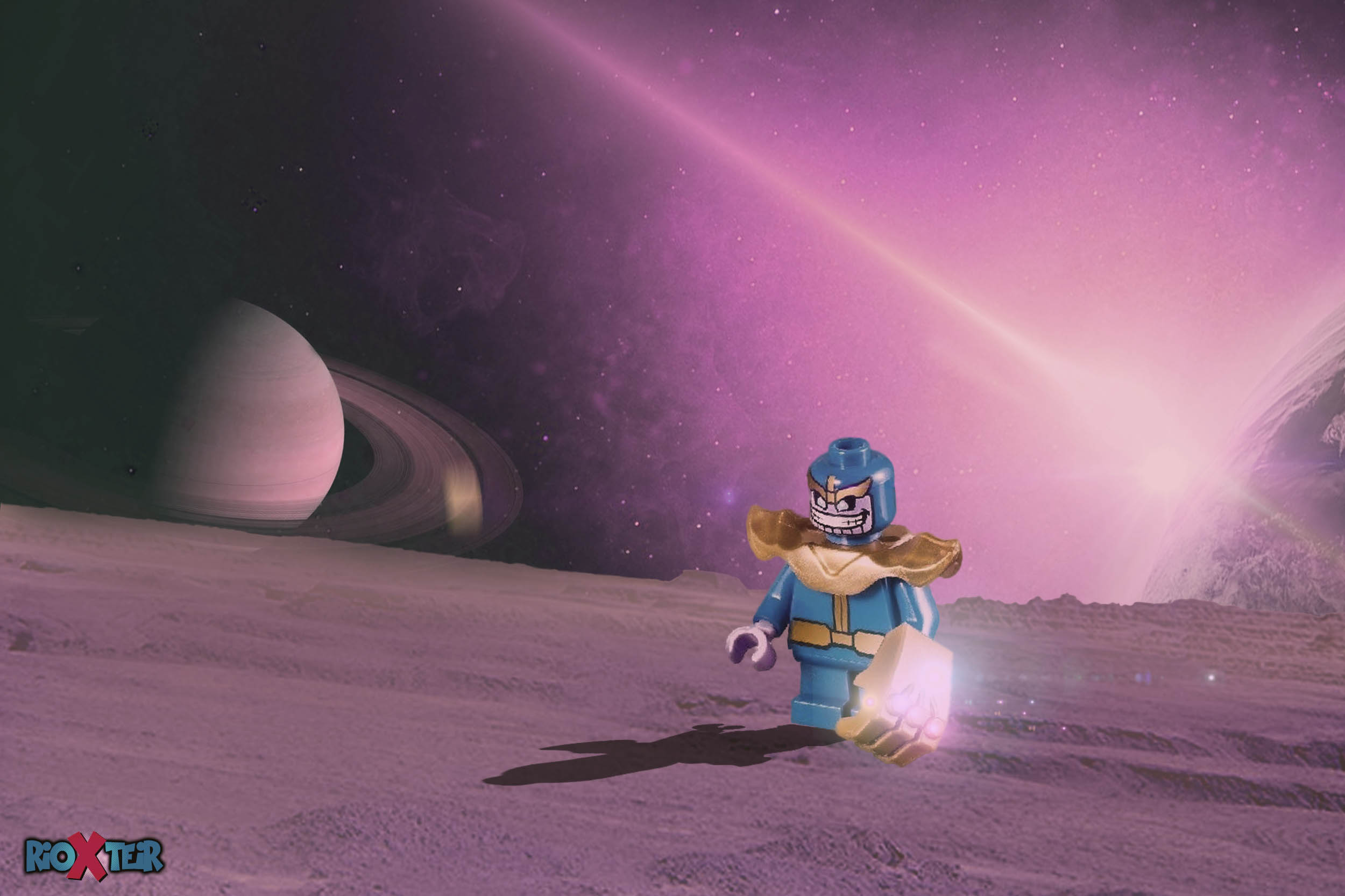Lego Minifigs thanos in space