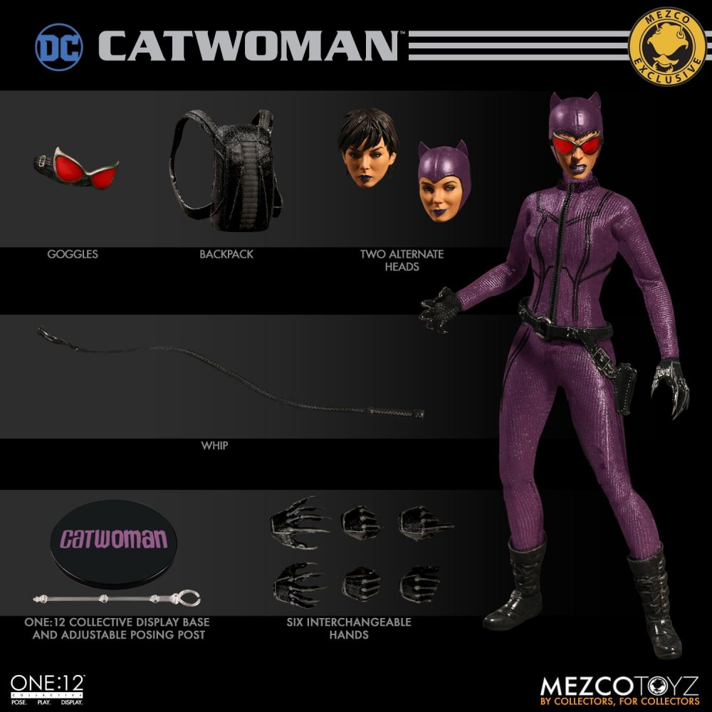 Mezco Toyz One:12 Collective Catwoman Purple Suit Variant