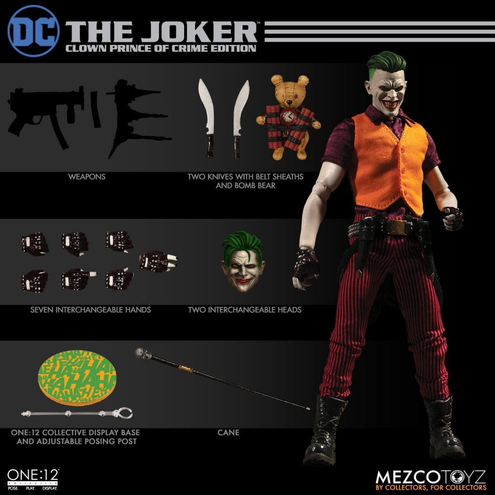 Mezco Toyz One12 Collective The Joker Clown Prince of Crime Edition