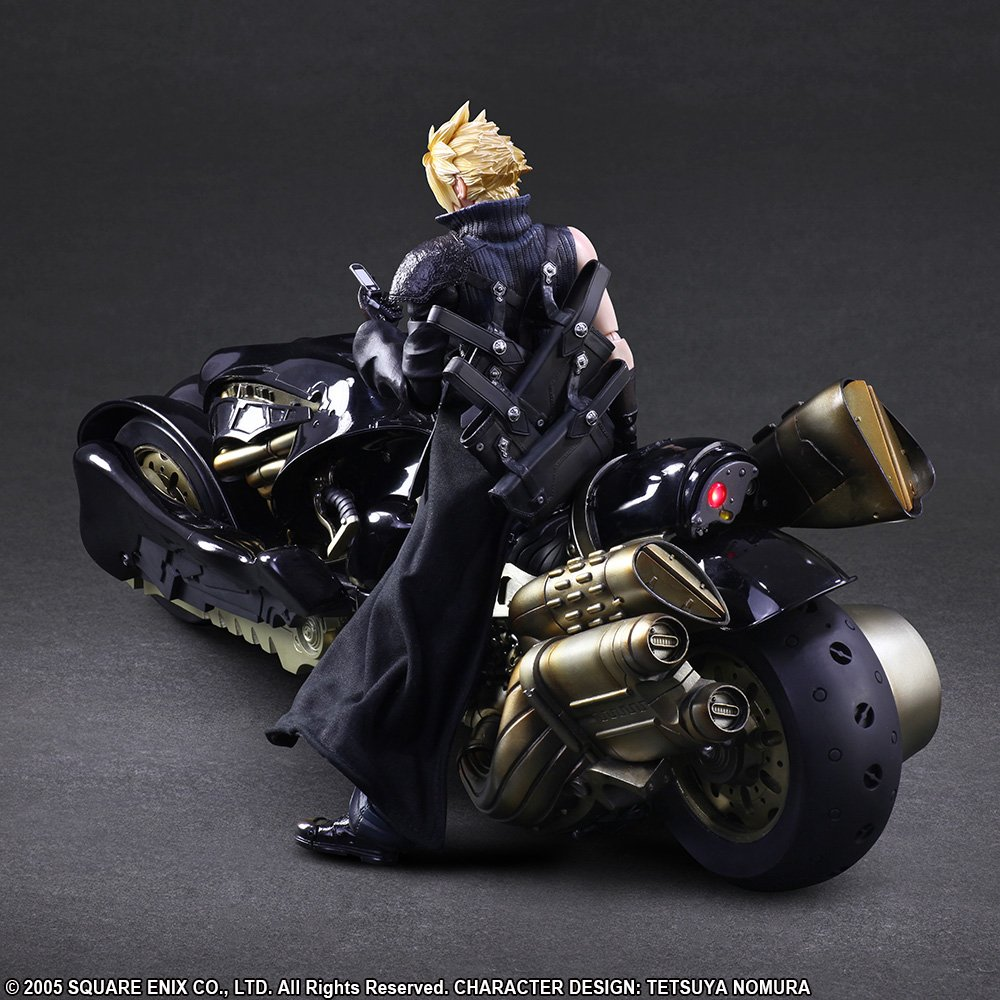 Square Enix Play Arts Kai Cloud Strife and Fenrir FINAL FANTASY VII ADVENT CHILDREN