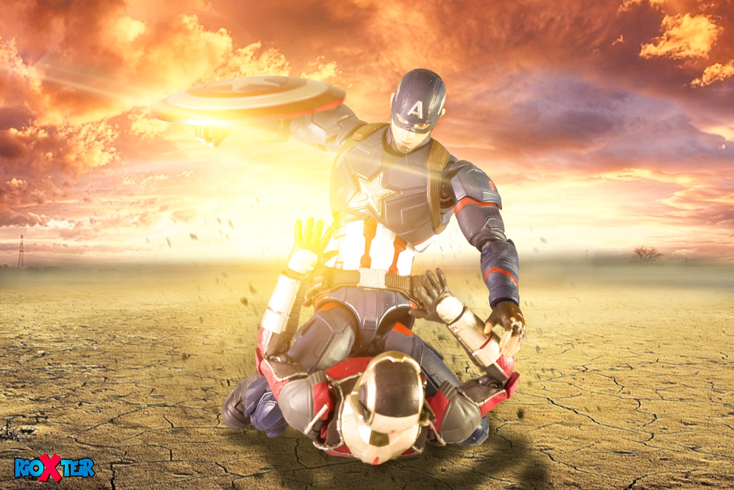 SHF Captain America fight SHF Antman