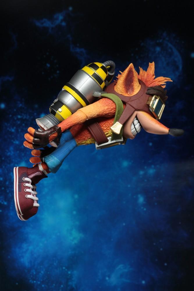 Neca 7inch Crash Bandicoot Deluxe Crash with Jet Pack