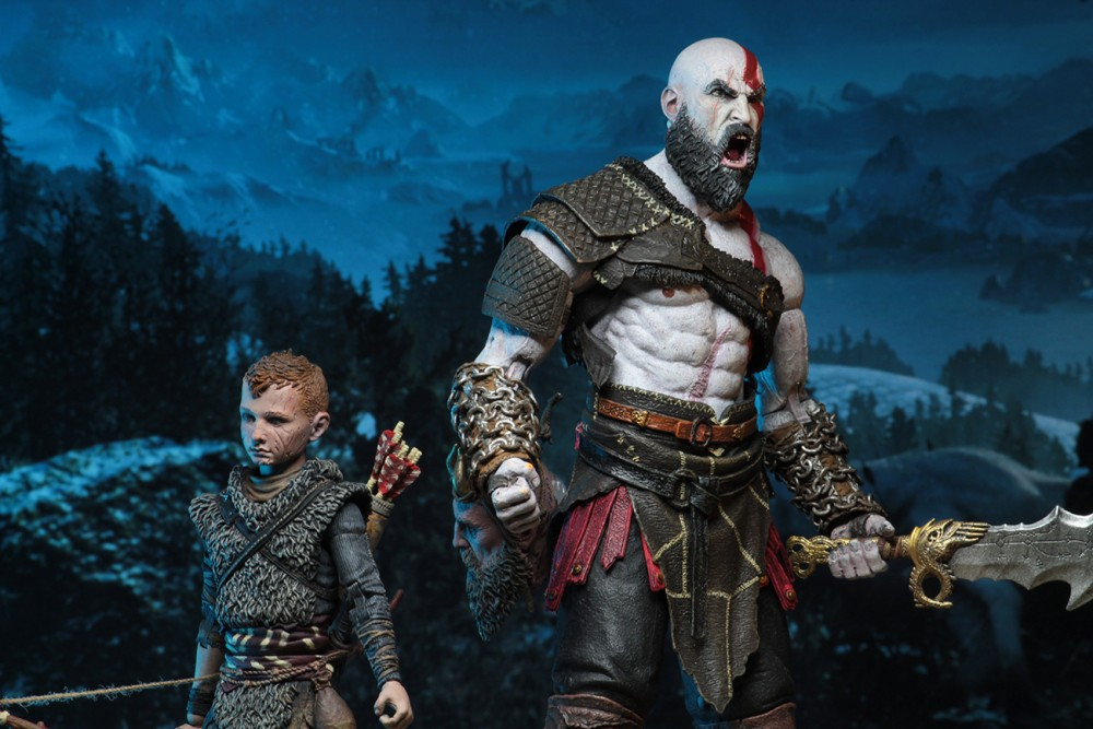 Neca 7 Ultimate Kratos And Atreus 2 Pack God Of War 2018