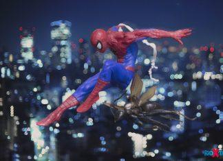 Spider-Man on His Night Patrol