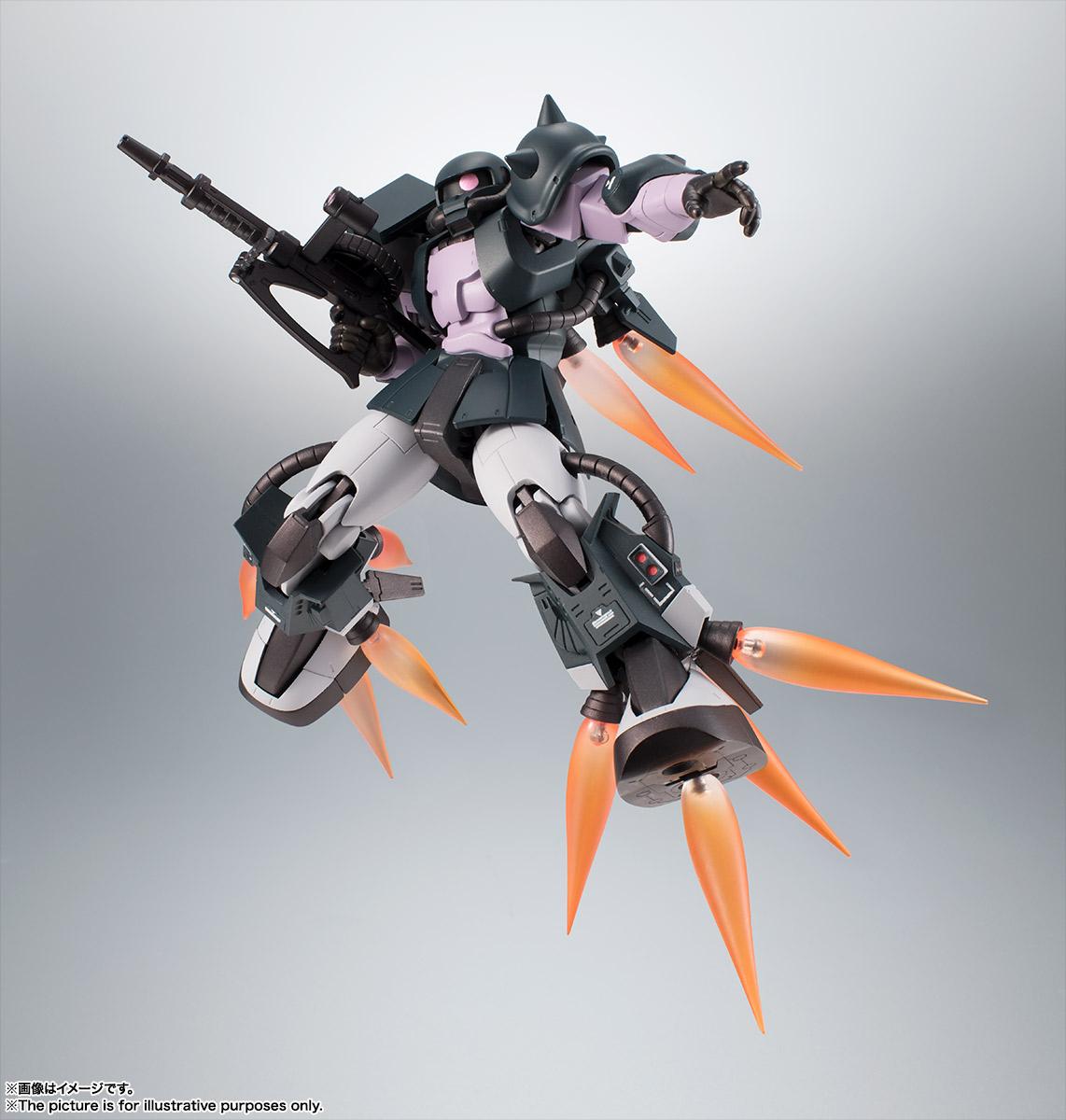 Bandai Robot Spirits Zaku II Ver ANIME Black Tri-Stars