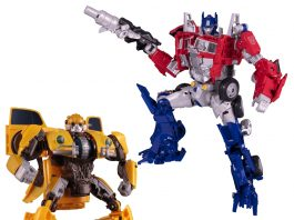 Transformers Movie Legendary Optimus Prime + Power Charge Bumblebee Set
