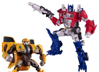 Transformers Movie Legendary Optimus Prime + Power Charge Bumblebee Set