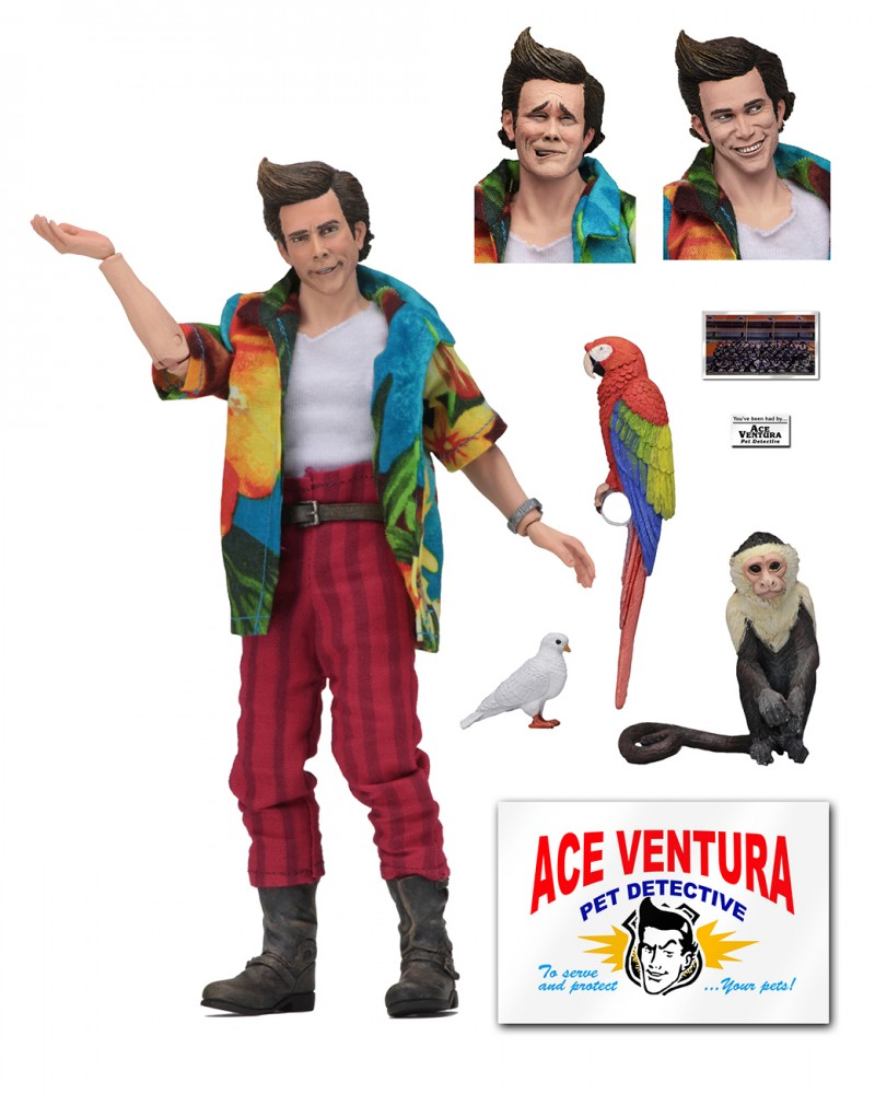 Neca 8inch Ace Ventura Pet Detective Action Figure