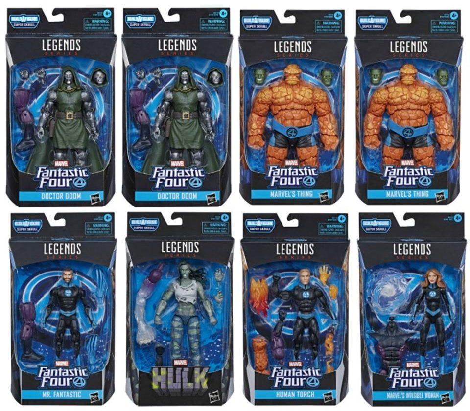 Marvel Legends Fantastic Four Series Build A Figure Super Skrull Wave