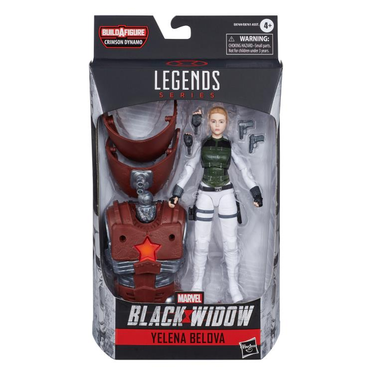 Marvel Legends Yelena Bolova Black Widow Series Crimson Dynamo baf