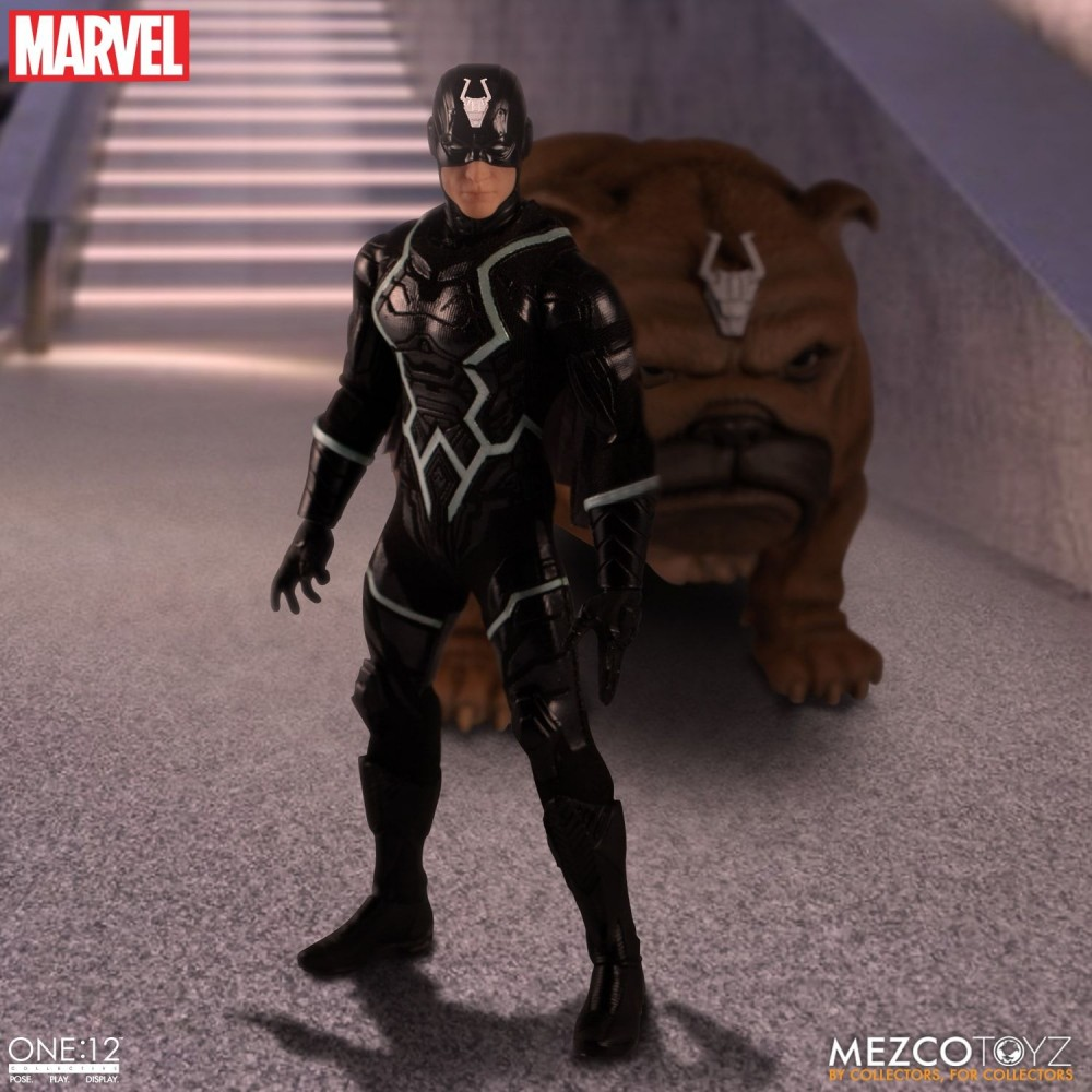 Mezco Toyz One:12 Collective Series Black Bolt & Lockjaw Set