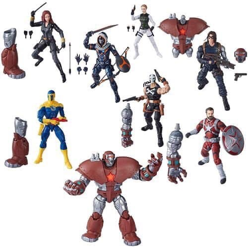 marvel legends black widow wave crimson dynamo baf series