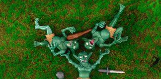 Aquamarine Goblin Village 3 Figure Set