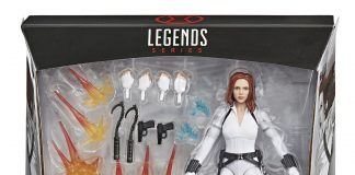 Marvel Legends Black Widow Deluxe Movie White Outfit