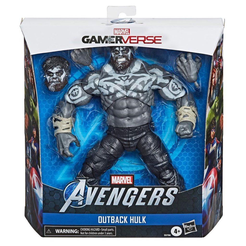 Marvel's Avengers and Marvel Legends Outback Hulk Gamerverse Gamestop Exclusive