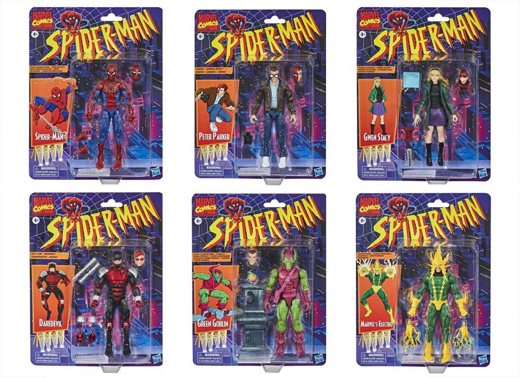Marvel Legends Series Spider-Man Retro Wave Collection
