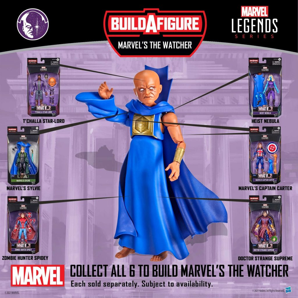 Marvel Legends Series What If Wave BAF The Watcher